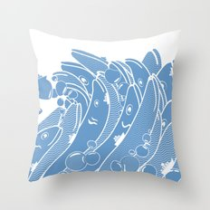 The Ocean is Alive Throw Pillow