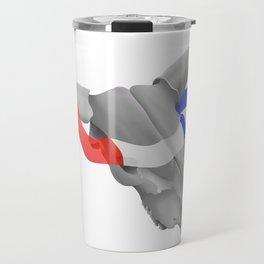 Patriotic Cow Skull Travel Mug