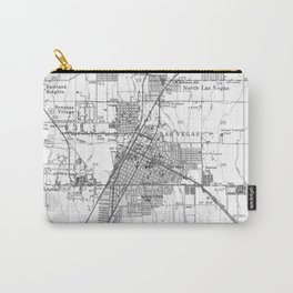 Vintage Map of Las Vegas Nevada (1952) BW Carry-All Pouch
