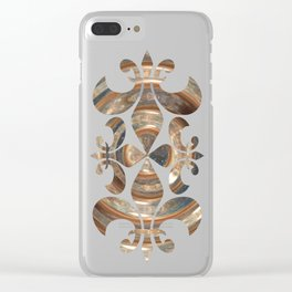 Space Swirl no1 Clear iPhone Case