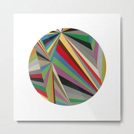 Colorful Angles Circle Metal Print