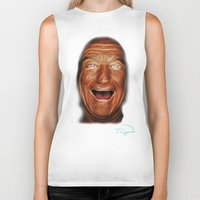 robin williams Biker Tanks featuring Robin Williams Abstracto by Tazmatic