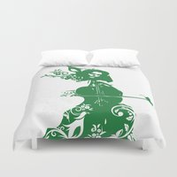 cello Duvet Covers featuring Cello and flowers by Design4u Studio