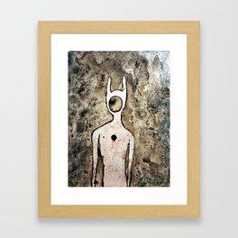 Ancient Alien Petroglyph Framed Art Print