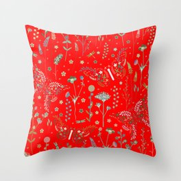 Nature trail in July heat. Throw Pillow