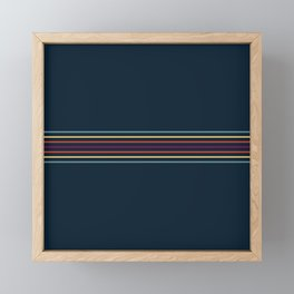 Thin Lines in Retro Color Framed Mini Art Print