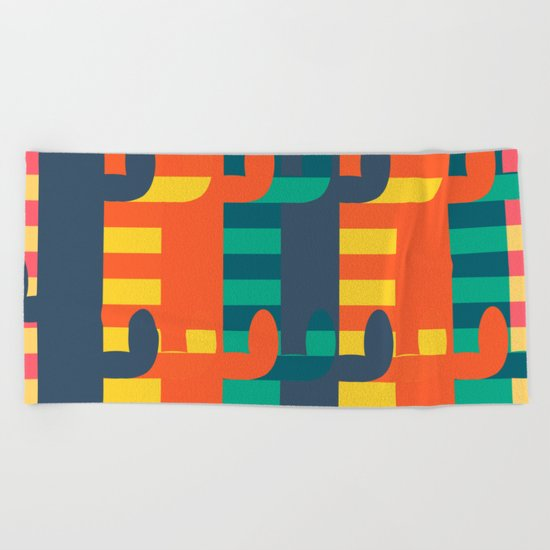 Cactus view Beach Towel