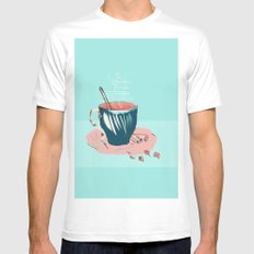 coffee with love MEDIUM Mens Fitted Tee White