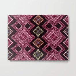 1 Embroidery Boho .  world- beads Metal Print