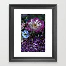 Purple Love Clusters Framed Art Print