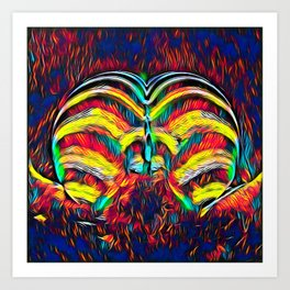 1349s-MAK Abstract Pop Color Erotica Explicit Psychedelic Yoni Buns Art Print