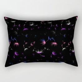 Dandelion Seeds Genderfluid Pride (black background) Rectangular Pillow