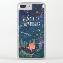 Let´s be adventurers Clear iPhone Case