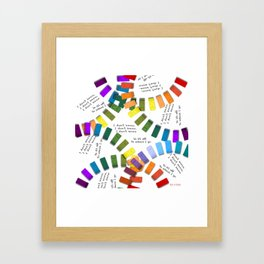 Off to school I go - with my colorful building blocks Framed Art Print