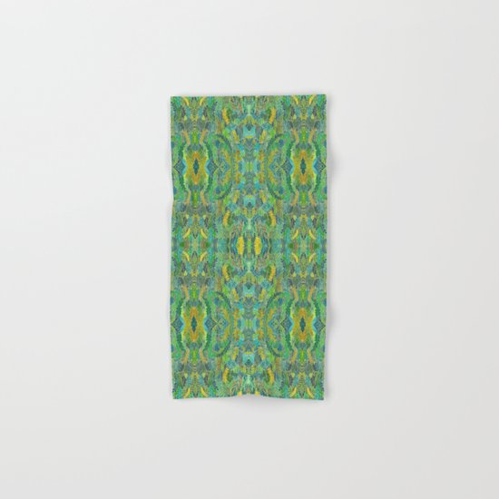 Green leaves Hand & Bath Towel
