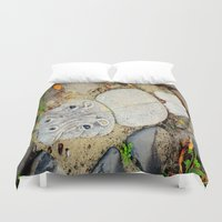 camp Duvet Covers featuring Hippo Camp by oneofacard