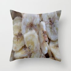BANANA CHIPS Throw Pillow