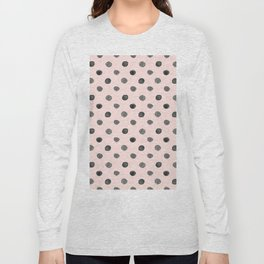 Hand drawn grey dots on pink - Mix & Match with Simplicty of life Long Sleeve T-shirt