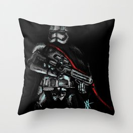 A Woman in Charge Throw Pillow