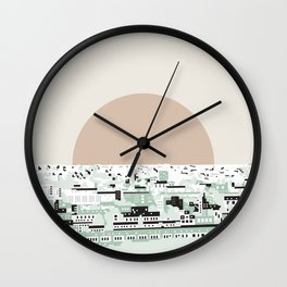 Rooftop view_2 Wall Clock