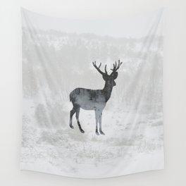 Snowing Deer Wall Tapestry