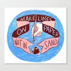 Make Lines Canvas Print
