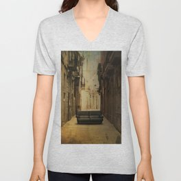 Amazing big things I found in Barcelona's streets Unisex V-Neck