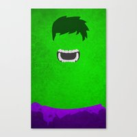 hulk Canvas Prints featuring Hulk by theLinC