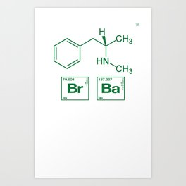 Breaking Bad Methamphetamine White Art Print