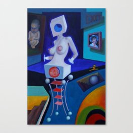 Pregnant Woman's Dream of Lightness Canvas Print