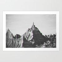 Mountain Skyline Art Print