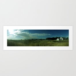 Field infront of the chemical plant  Art Print
