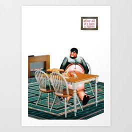 Habits / Junk Food Art Print