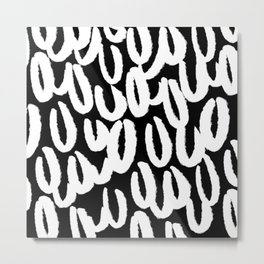 Brushy white and black - classy college student collection Metal Print