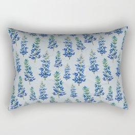 Blue Bonnets Rectangular Pillow