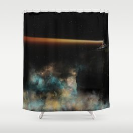 Space Guide Shower Curtain