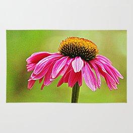 Pink Pop Coneflower Rug