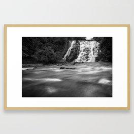 Rushing Waterfall Framed Art Print