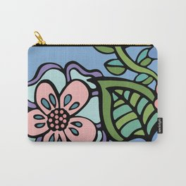 Flower Power Diving Girl Carry-All Pouch