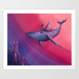 Crystal Whale Art Print