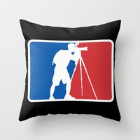 league Throw Pillows featuring Landscape League by Preston Lee Design