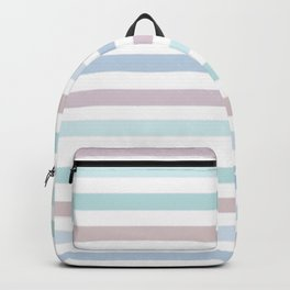 Striped pattern in pastel colours 1 Backpack