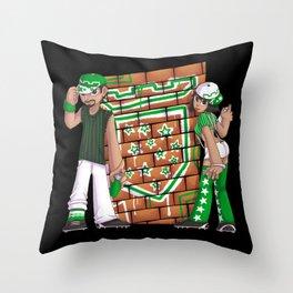 Star Team Graffiti Throw Pillow