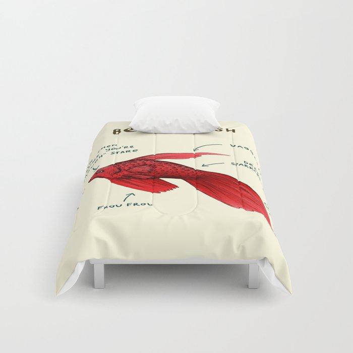Anatomy of a Betta Fish Comforters by sophiecorrigan   Society6