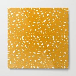 Yellow Freeform Metal Print