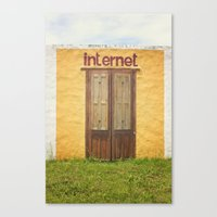 internet Canvas Prints featuring Internet by Nina's clicks