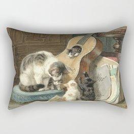 The Musicians - Vintage Cat Painting Rectangular Pillow