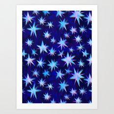 Starry Night {blue} Art Print