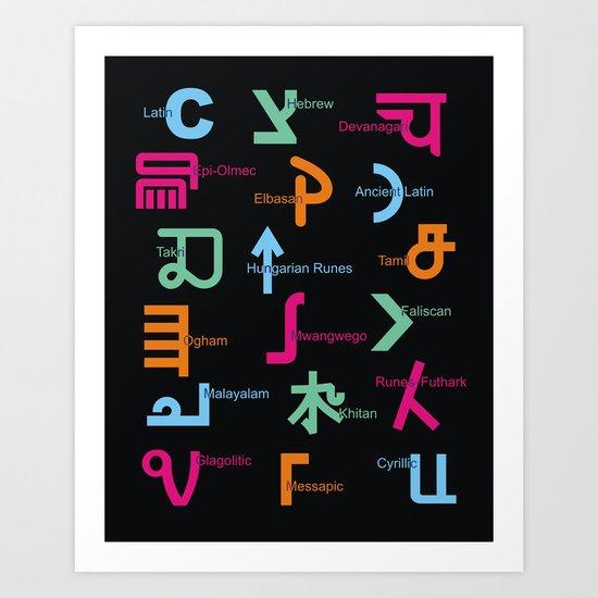 C in Scripts Around the World /I Art Print