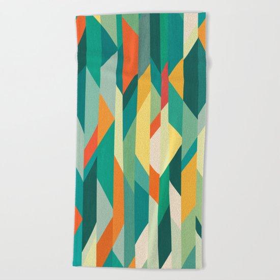Broken Ocean Beach Towel